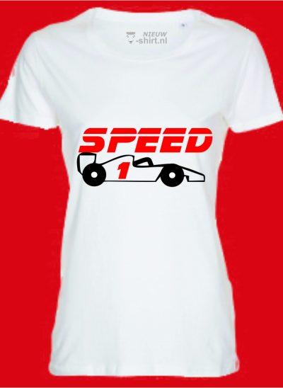 T-shirt Speed formule 1 zwart dames
