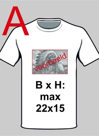 T-shirt ontwerp zelf met eigen foto wit landscape