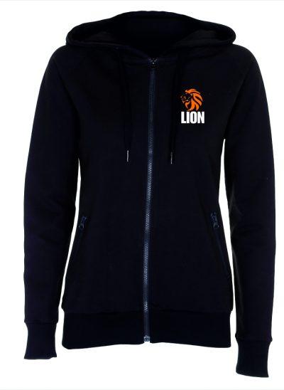 Nieuw T-shirt Lion Sport Hooded Zip ladies zwart