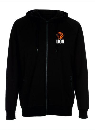 Nieuw T-shirt Lion Sport Hooded Zip zwart - unisex - heren