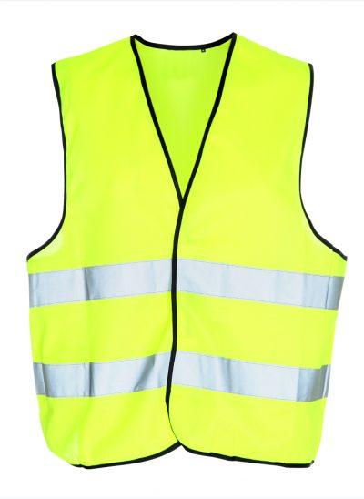 NieuwT-shirt veiligheidshesje met tekst Houd aub 1,5 meter afstand