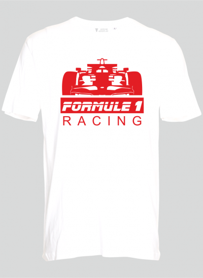 Nieuw T-shirt T-shirt Formule 1 wit - rood formule 1 - sizes regular
