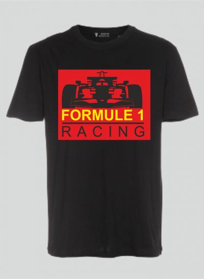T-shirt Formule 1 zwart - rood formule 1 - sizes regular