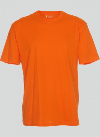 NieuwT-shirt T-shirt oranje regular fit unisex