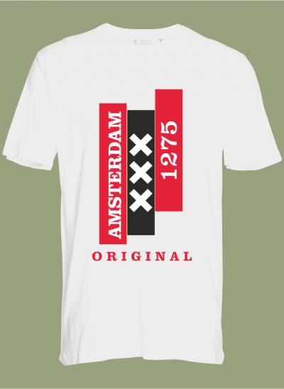 T-shirt Amsterdam original wit regular
