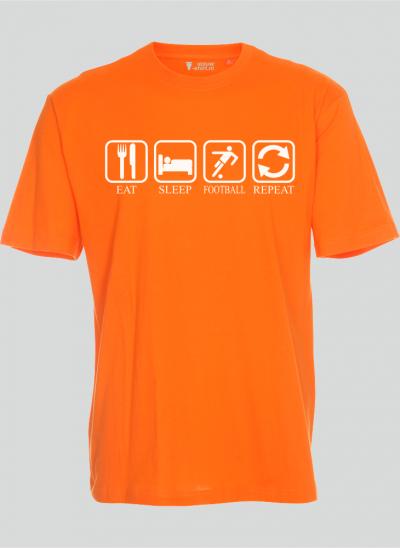 T-shirt Eat Sleep Football repeat oranje nederland t-shirt