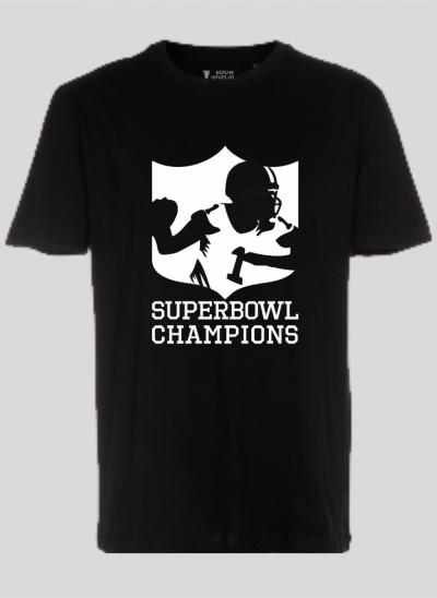 T-shirt americana t-shirt superbowl american football zwart regular