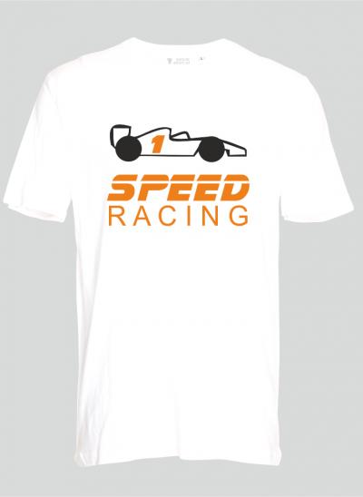 shirt speedracing formule 1 kinderen regular wit